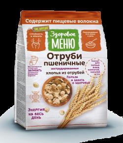 Отруби пшеничные хлопьями Здоровое меню 200г (20) пак