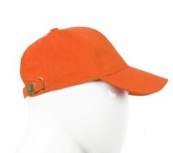 Бейсболка хлопковая оранжевая