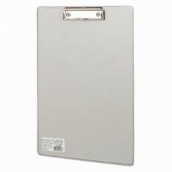"""Доска-планшет BRAUBERG """"Comfort"""" с прижимом А4 (230х350 мм), СЕРАЯ"""