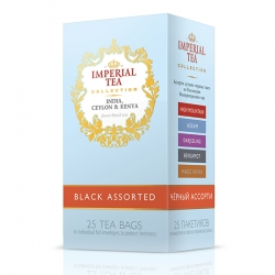 """Imperial Tea Collection """"ассорти черных чаев"""". 25 пакетиков."""
