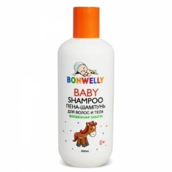 """Пена-шампунь для волос и тела """"Bonwelly""""Волшебная забота 300 мл"""