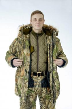 Комплект одежды для рыбаков и охотников c утеплителем из оленьей шерсти