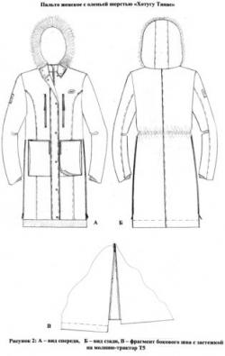 Пальто женское зимнее бытовое темно-синее с утеплителем из оленьей шерсти