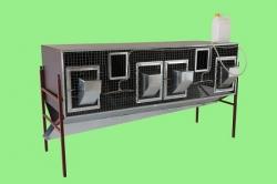 Клетка для кроликов откормочная на 4 отсека