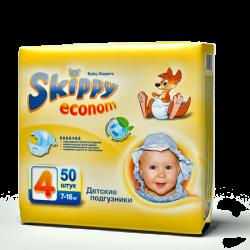 Подгузники для детей Skippy Econom, р-р4 (7-18кг), 50 шт