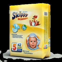 Подгузники для детей Skippy Econom, р-р5 (12-25кг), 42 шт.