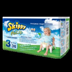 Трусики-подгузники детские Skippy Pull Up, р-р3 (6-11кг), 36 шт.