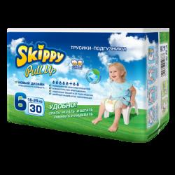 Трусики-подгузники детские Skippy Pull Up, р-р6 (16-25кг), 30 шт.