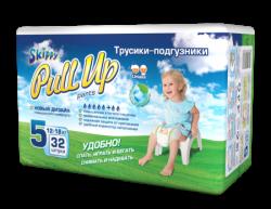 Трусики-подгузники детские Skippy Pull Up, р-р5 (12-18кг), 32 шт.