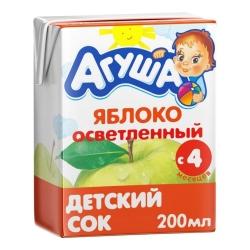 Агуша Сок осветленный Яблоко 200мл (18)