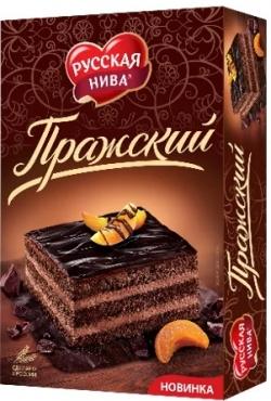 Русская нива Торт Пражский 400г (12)